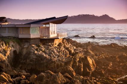 Luxury home overlooks the Big Sur, Coastline and sea