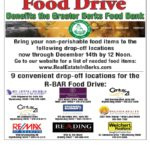 We are a drop off point for the 2016/17 RBAR Food Drive